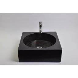 SSL-P BLACK E wash basin overtop INDUSTONE