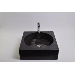 SSL-P BLACK F wash basin overtop INDUSTONE