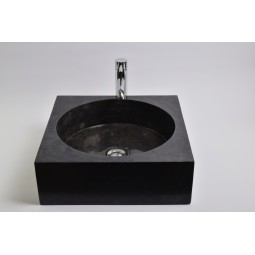 SSL-P BLACK G wash basin overtop INDUSTONE