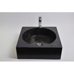 SSL-P BLACK I wash basin overtop INDUSTONE