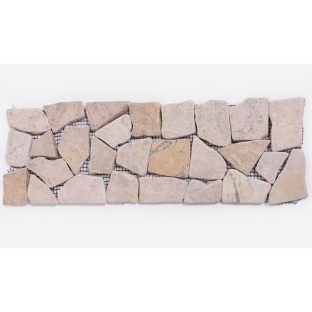 DEKOR: * RED Square czerwony ŁAMANA mozaika kamienna na siatce INDUSTONE