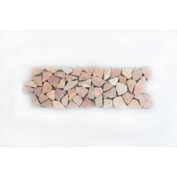 DEKOR: * RED Interlock czerwony ŁAMANA mozaika kamienna na siatce INDUSTONE