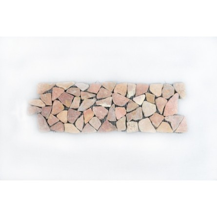 RED Interlock dekor rot Bruchmosaik mosaik naturstein INDUSTONE