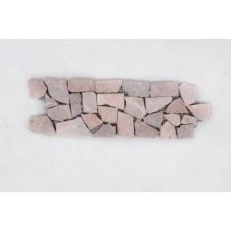 DEKOR: * COCO BROWN brązowy ŁAMANY mozaika kamienna na siatce INDUSTONE