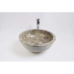 KC-A Grey 40 I1 wash basin overtop INDUSTONE