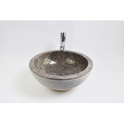 KC-A Grey 40 I2 wash basin overtop INDUSTONE