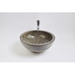 KC-A Grey 40 I8 wash basin overtop INDUSTONE