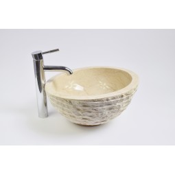 MR-M Cream T4 40 cm wash basin overtop INDUSTONE