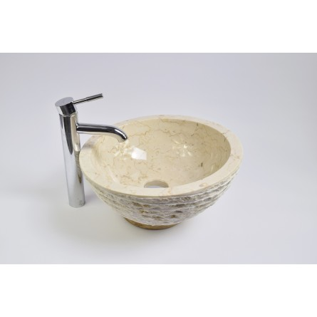 MR-M Cream T7 40 cm wash basin overtop INDUSTONE
