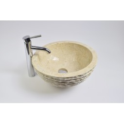 MR-M Cream T10 40 cm wash basin overtop INDUSTONE