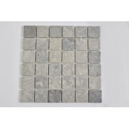 KOSTKA: * GREY LIGHT 5x5 mosaic on a plastic grid INDUSTONE