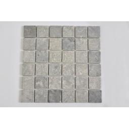 KOSTKA: * GREY LIGHT 5x5 mosaic on a plastic grid INDUSTONE