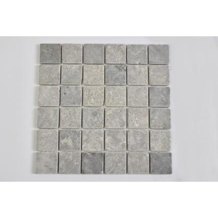 KOSTKA: * GREY LIGHT 5x5 quadratisch mosaik naturstein INDUSTONE