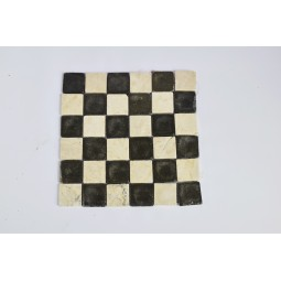 KOSTKA: * MIX 2: WHITE/GREY 5x5 szachownica mozaika kamienna na siatce INDUSTONE