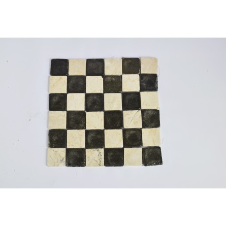 KOSTKA: * MIX 2: WHITE/GREY 5x5 mosaic on a plastic grid INDUSTONE