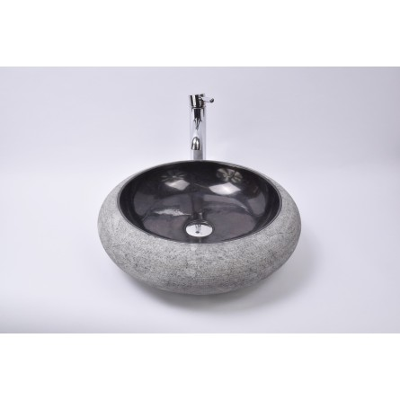 DN-G BLACK A2 45 cm wash basin overtop INDUSTONE