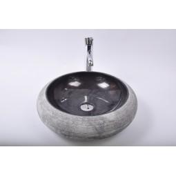 DN-G BLACK A7 45 cm wash basin overtop INDUSTONE