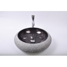 DN-G BLACK A8 45 cm wash basin overtop INDUSTONE