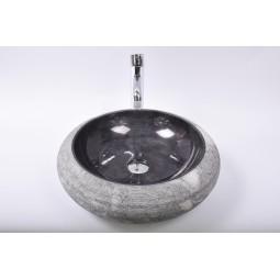DN-G BLACK A9 45 cm wash basin overtop INDUSTONE