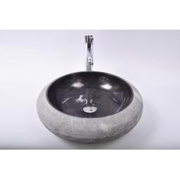 DN-G BLACK A10 45 cm wash basin overtop INDUSTONE