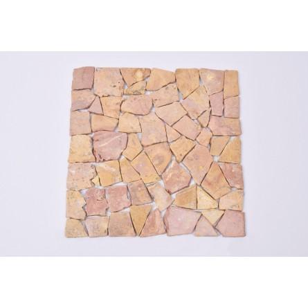 ŁAMANA SQUARE :RED Sumbawa mozaika kamienna na siatce INDUSTONE