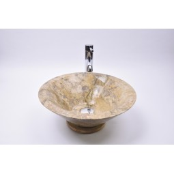 KL-P BROWN A 40 cm wash basin overtop INDUSTONE