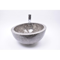 MR-P GREY W5 40 cm wash basin overtop INDUSTONE