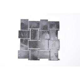 KOSTKA NEW MODEL: * BLACK Sumbawa schwarz quadratisch mosaik naturstein INDUSTONE