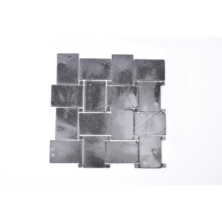 KOSTKA NEW MODEL: * BLACK Sumbawa czarna mozaika kamienna na siatce INDUSTONE