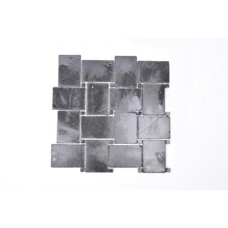KOSTKA NEW MODEL: * BLACK Sumbawa mosaic on a plastic grid INDUSTONE