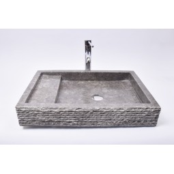 KOTAK TRAP Grey 60x42x10 R6 wash basin overtop INDUSTONE