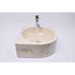 FAN CORNER CREAM G1 40x15 cm kamienna umywalka nablatowa narożna INDUSTONE