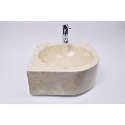 FAN CORNER CREAM G3 40x15 cm kamienna umywalka nablatowa narożna INDUSTONE