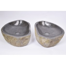 A PAIR OF TWO WASHBASINS - RSB2 36 INDUSTONE