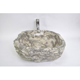 EROSI Silver Grey G wash basin overtop INDUSTONE