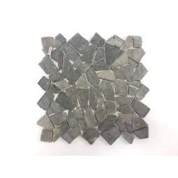 ŁAMANA: *GREY Marbello grey mosaic on a plastic grid INDUSTONE