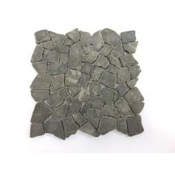 ŁAMANA: *ANDEZYT Java Black Intercuro mosaic on a plastic grid INDUSTONE