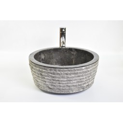 LY-M BLACK D 40 cm wash basin overtop INDUSTONE
