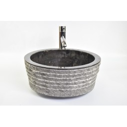LY-M BLACK G 40 cm wash basin overtop INDUSTONE