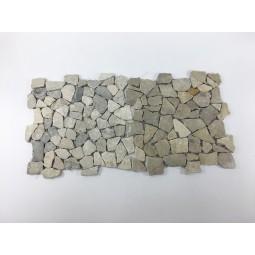 TAN GREY Interlock grey mosaic on a plastic grid INDUSTONE