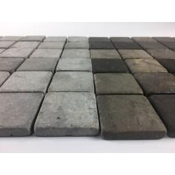KOSTKA: * GREY 5x5 nr 1 mosaic on a plastic grid INDUSTONE