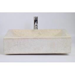 RCK CREAM A 60x40 cm kamienna umywalka nablatowa INDUSTONE