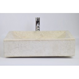 RCK CREAM A 60x40 cm wash basin overtop INDUSTONE
