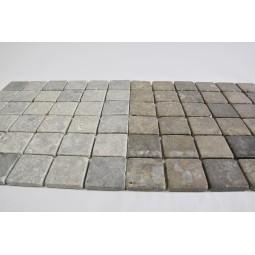 KOSTKA: * GREY SOFT 5x5 mosaic on a plastic grid INDUSTONE