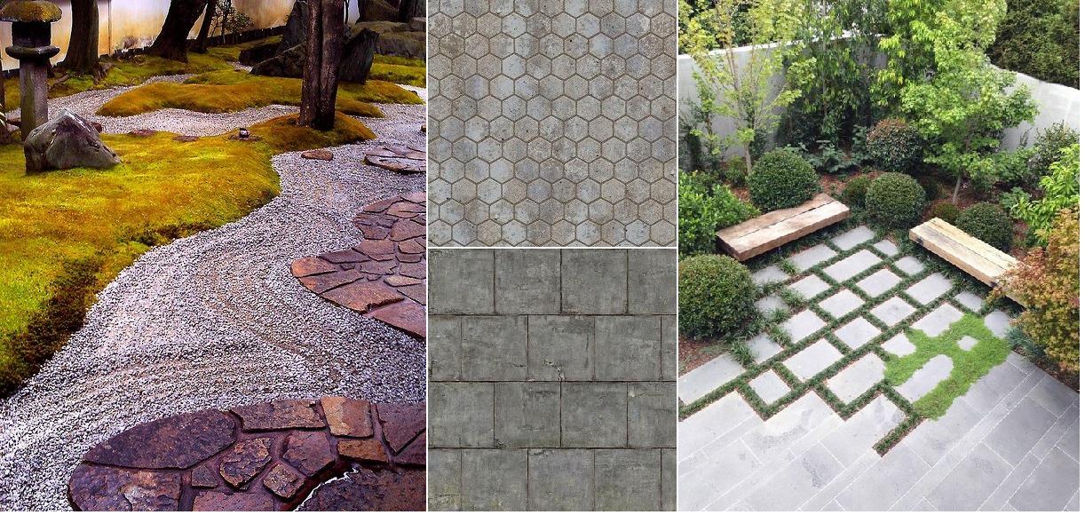 Kamienie i mozaika w ogrodzie i na tarasie