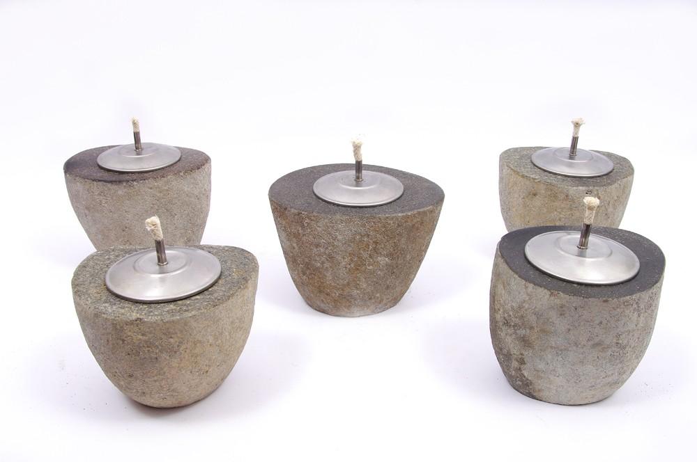 świeczki tlight z kamienia lampy oliwne kamienna dodatek do ozdabiania ogrodu