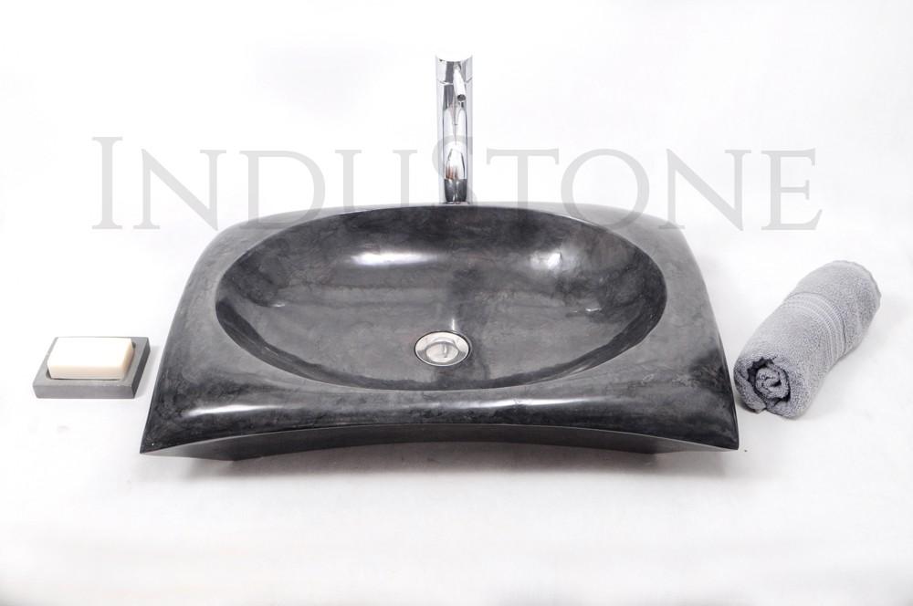 umywalka czarna z kamienia InduStone