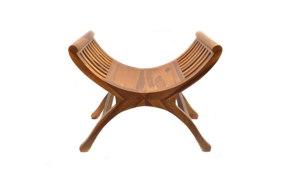 krzesło rzymskie z drewna egzotycznego